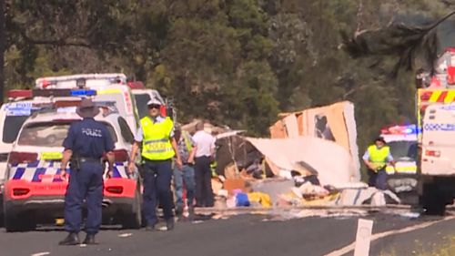 Two dead, two injured after NSW caravan rollover
