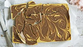 Peanut butter and chocolate shards