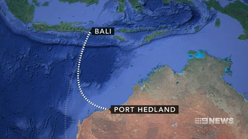 The plane was forced to divert to Port Hedland.