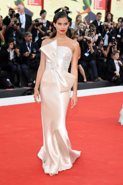 Sara Sampaio in Armani Privé at the 2018 Venice Film Festival