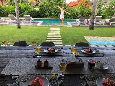 Bali villa resort breakfast