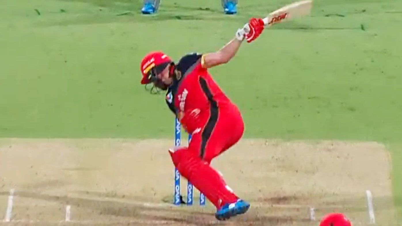 'Astonishing' ABV smacks one-handed six out of stadium in IPL