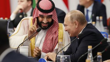 Saudi Arabia's Crown Prince Mohammed bin Salman, left, and Russian President Vladimir Putin were all smiles during the G20.