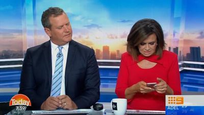 Lisa Wilkinson gawks at shirtless male model's Instagram on TODAY