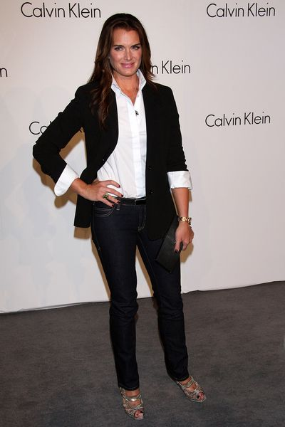Brooke Shields attends the Calvin Klein 40th anniversary at the High Line on September 7, 2008 in New York.