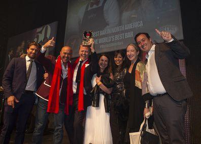 Winners of World's Best Bar 2019 Dante, New York. The World's 50 Best Bars 2019 awards in London