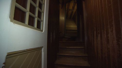 "Winchester is build entirely of timber, and has rooms described as ""nothing but shells"". (9NEWS)"