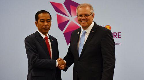 Prime Minister Scott Morrison met with Indonesian President Joko Widodo yesterday.