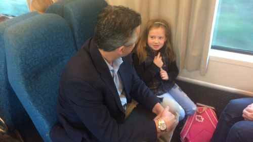 Darren Chester rides the network this morning. (9NEWS)