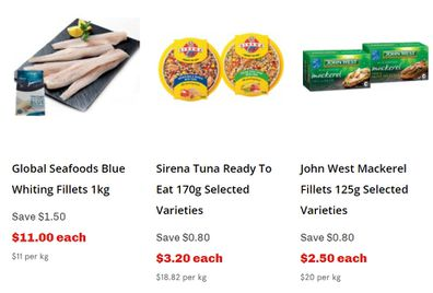IGA has some great seafood options this week too.