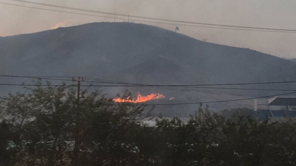 The fire near a Rio Olympic venue. (Twitter / @Raul_GranadoOCR)