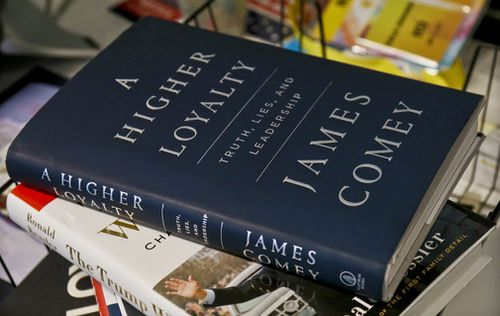 Mr Comey's book is already a best-seller before its release. (AP/AAP)