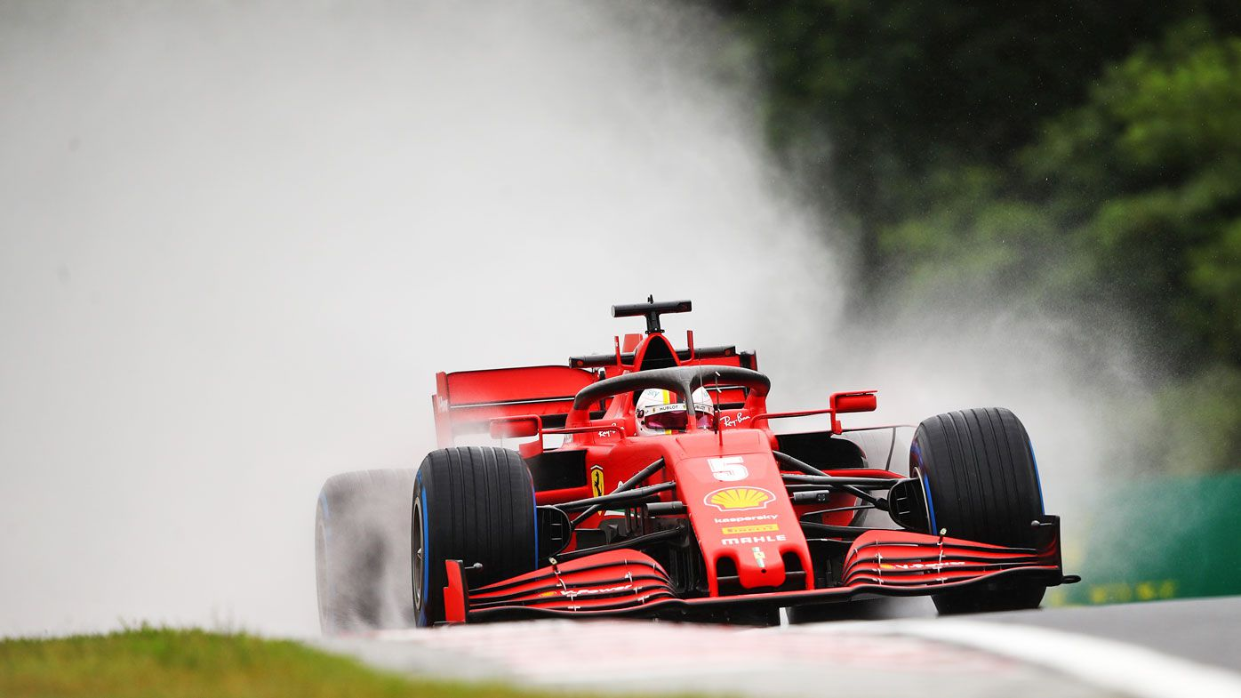 Sebastian Vettel of Germany driving the (5) Scuderia Ferrari SF1000 on track during practice for the F1 Grand Prix of Hungary
