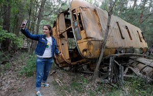 Nuclear disaster zone now selfie hot spot after hit TV show