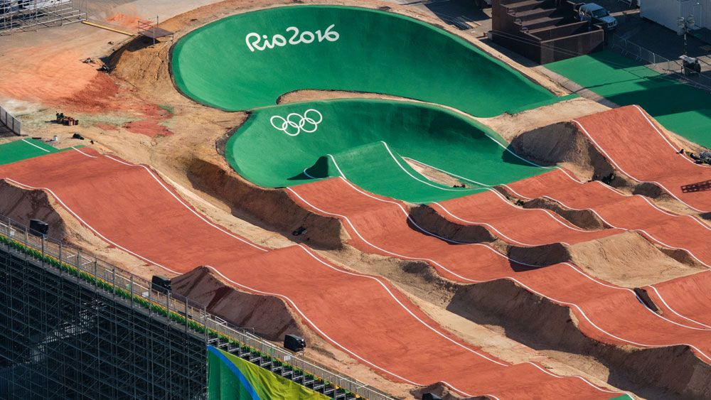 The BMX course at the Rio Olympics. (AFP)