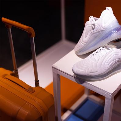 SkyUp Airlines new female cabin crew uniform by Ukrainian designer Gudu, featuring sneakers instead of heels