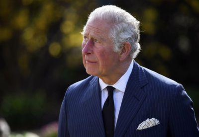 Prince Charles views tributes to Prince Philip, April 2021