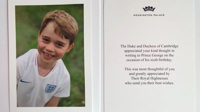 Prince George's adorable birthday Thank You cards revealed