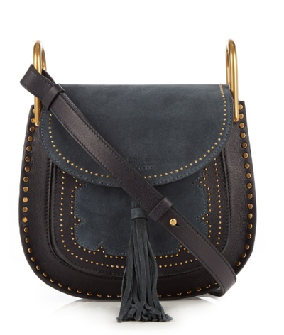 """<a href=""""http://www.matchesfashion.com/au/products/Chlo%C3%A9-Faye-small-suede-and-leather-shoulder-bag-1064998"""" target=""""_blank"""">Chloe Faye small suede and leather shoulder bag, $2510.</a>"""