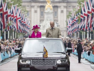 """Queen Elizabeth celebrates her 90th birthday with Prince Philip<span style=""""white-space:pre;""""></span>"""