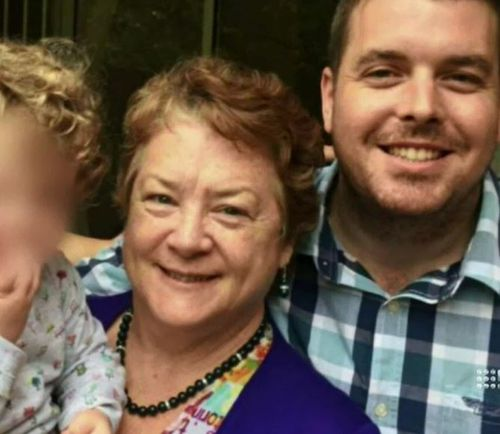 Mrs Thwaites and her son Nick. Picture: 9NEWS