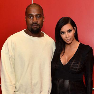Kanye West and Kim Kardashian in 2015.
