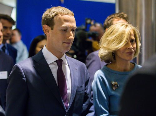 The Facebook chief is holding talks with France President Emmanuel Macron tomorrow. Picture: AAP