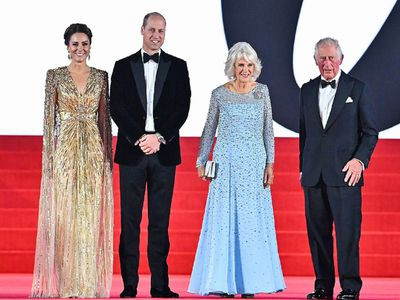 Prince Charles, the Duchess of Cornwall and the Cambridges attend the world premiere of 'No Time To Die,' September