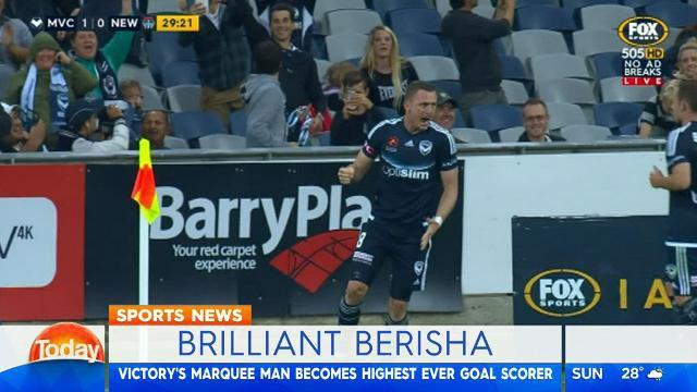 Berisha breaks goals record