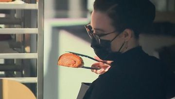 Hundreds of people queued for hours in South Brisbane to get their lips around a world-famous croissant today, raising questions over whether a gourmet bakery outing should be considered 'essential' under COVID-19 lockdown restrictions.