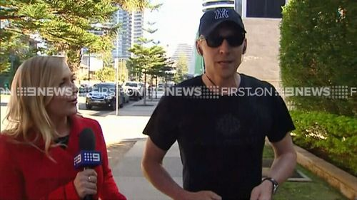 The actor spoke to 9NEWS while exercising on the Gold Coast this morning. (9NEWS)