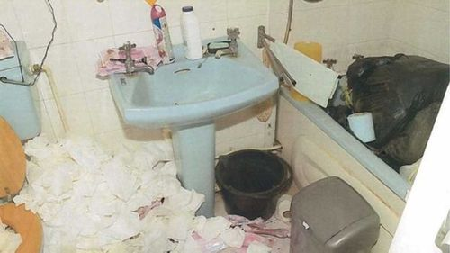 Prosecutors released these photographs showing the squalid conditions of the home.