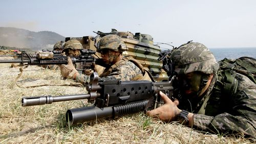 This file photo from 2015 shows US and South Korean troops on a joint exercise. (Photo: AP).