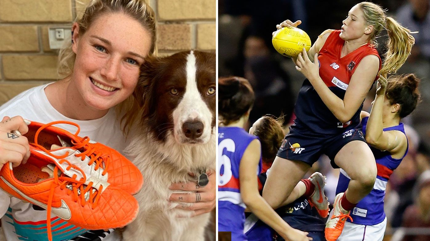 Tayla Harris puts game-worn boots on auction for bushfire victims