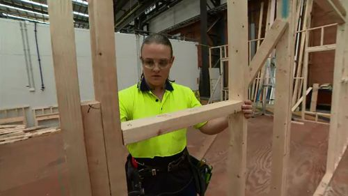 Carpenter Rachel Bennett said she was still sometimes treated differently by co-workers.