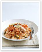 Chicken and vegie baked risotto