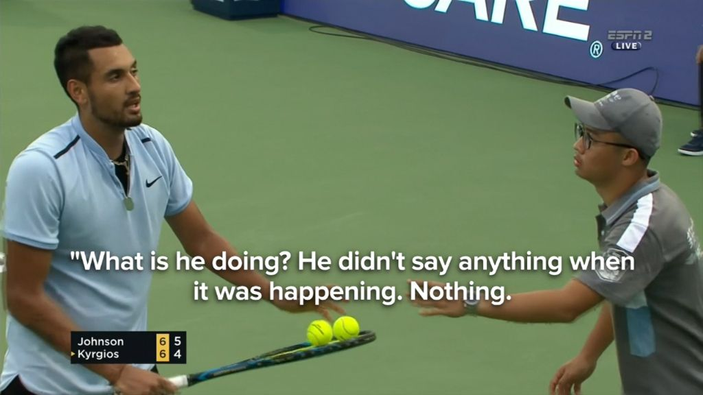 Kyrgios has epic meltdown in Shanghai