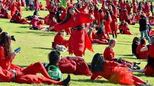 Kate Bush lookalikes paint Melbourne red for The Most Wuthering Heights Day Ever