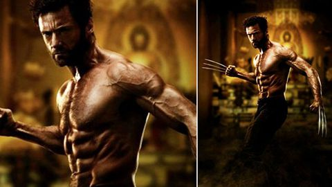 You're so vein: Hugh Jackman is scarily ripped in first official pic from The Wolverine