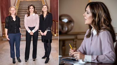 Princess Mary hosts meetings at her home in Copenhagen, January 2020