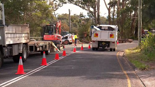 The council has said water will return at about 7pm. Picture: 9NEWS