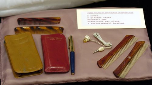 Combs and other items were found in a briefcase carried by Harold Holt. (AAP)