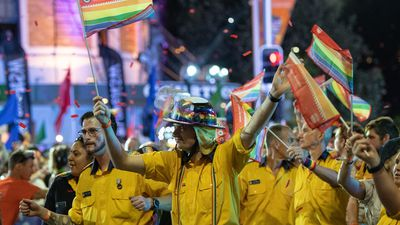 Australian firies had a special place in this year's parade.