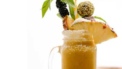 "Recipe:&nbsp;<a href=""http://kitchen.nine.com.au/2016/10/10/18/26/post-workout-tropical-island-passionfruit-smoothie"" target=""_top"">Post-workout tropical island passionfruit smoothie</a>"