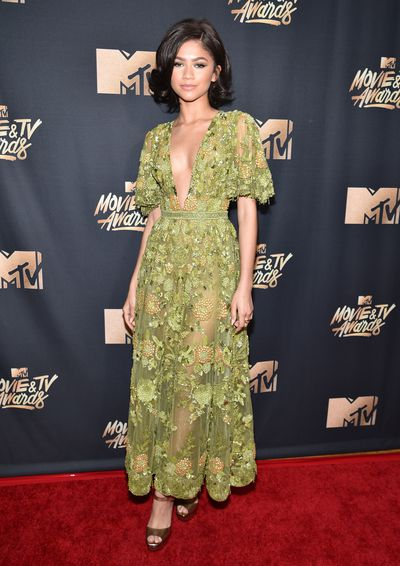 Singer and Actress Zendaya in Zuhair Murad at the 2017 MTV Movie & TV Awards in Los Angeles