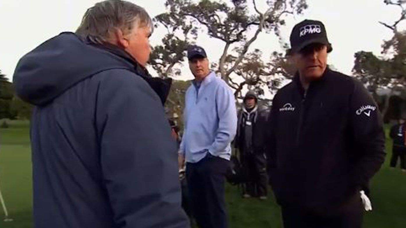 Mickelson fumes as Pebble Beach finish delayed until Monday