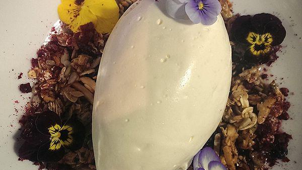 White cheesecake mousse