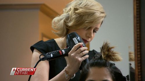 Hairdresser Mogjan Rajab-ali has been able to return to her career after fleeing Iran.