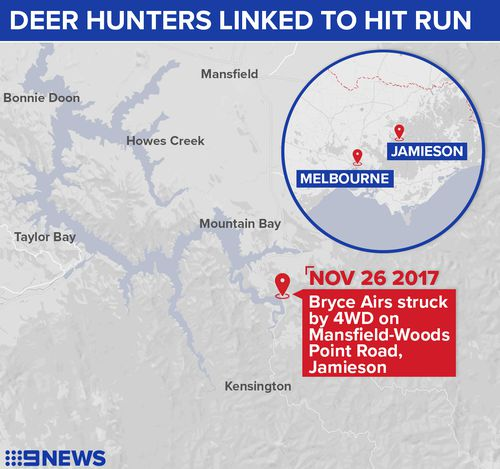 Mr Airs was fatally struck just one kilometre from his home. (9NEWS)