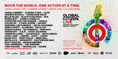 Global Citizen Live artists 2021.